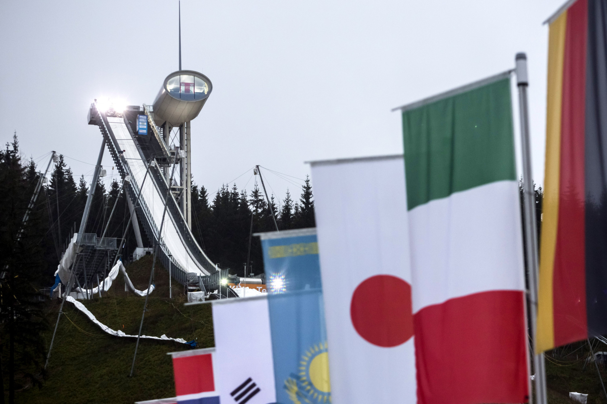 The Vogtland Arena is the host of numerous ski jumping and Nordic combined competitions ©Getty Images