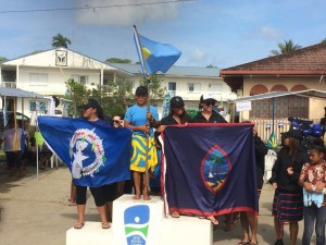 Palau completed a clean sweep of the women's va'a events ©Micronesian Games