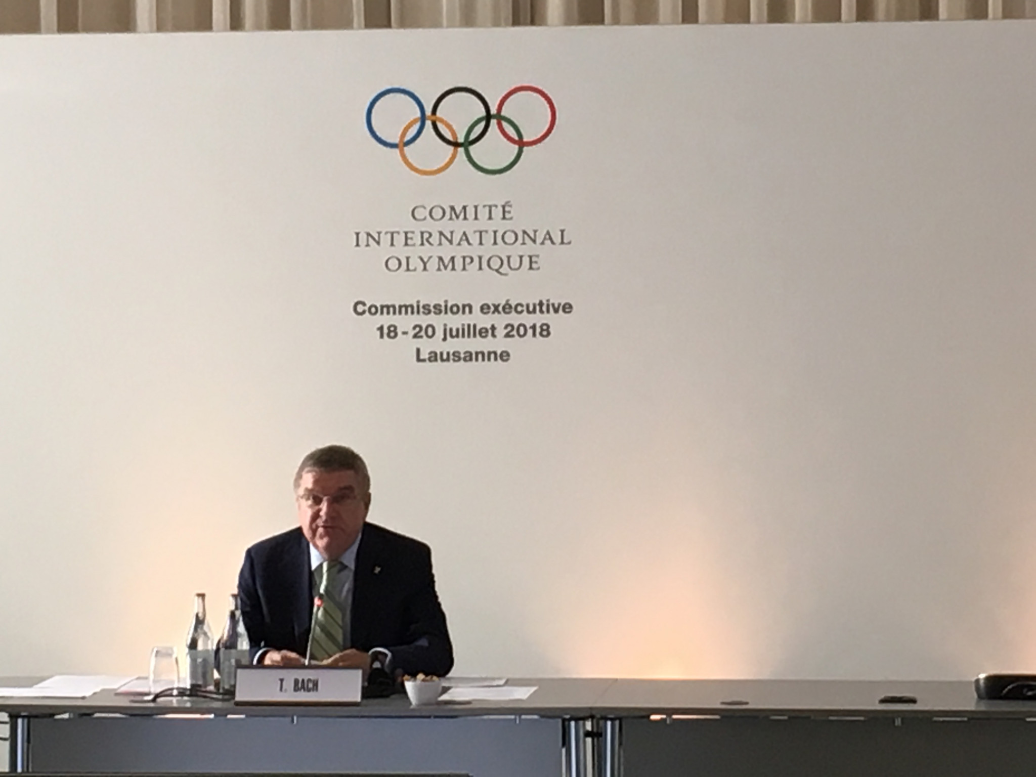 "Bach claims IOC ""not concerned"" about state of 2026 Winter Olympic bid race but calls for streamlined process"