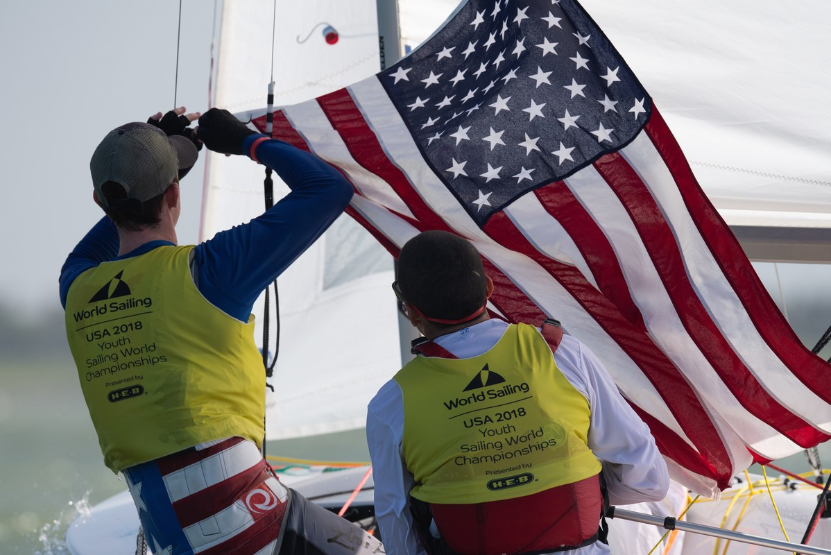 The United States claimed three gold medals today, on day four of the Youth Sailing World Championships in Texas ©World Sailing