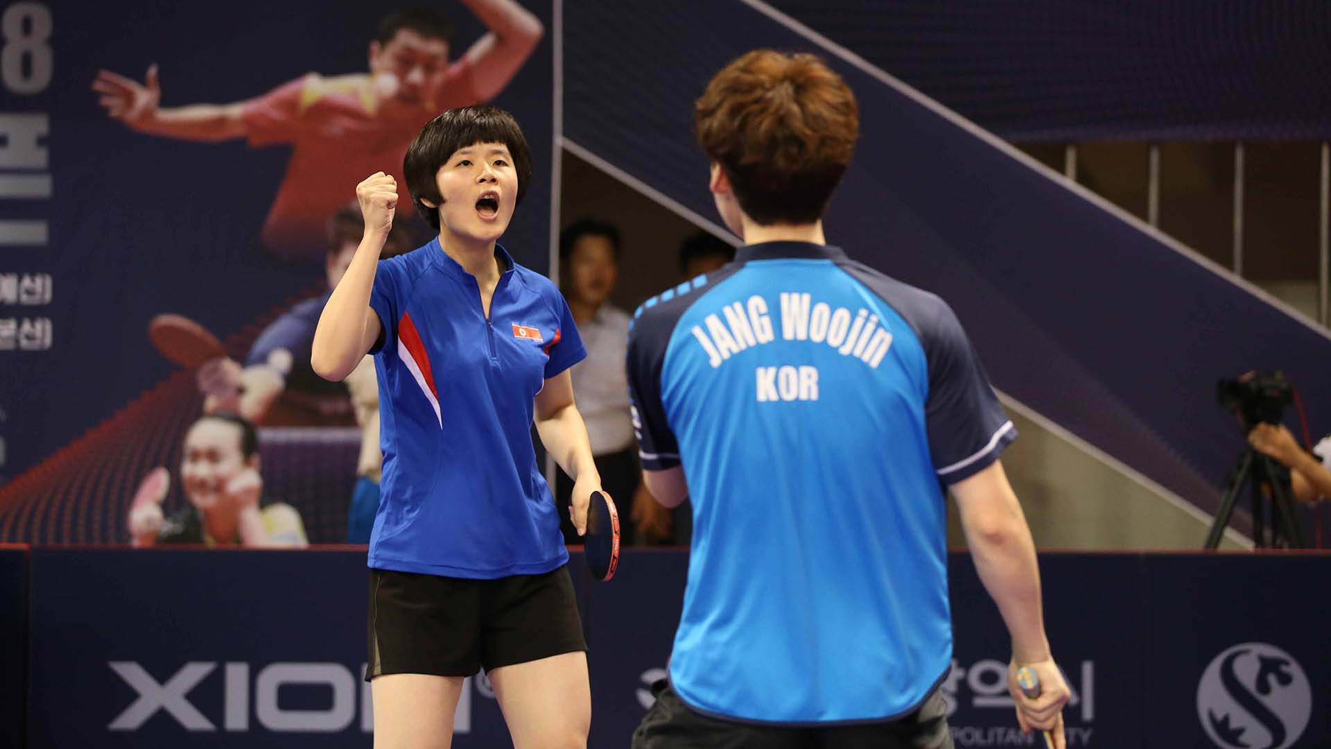 Unified mixed doubles team makes final at ITTF Korea Open