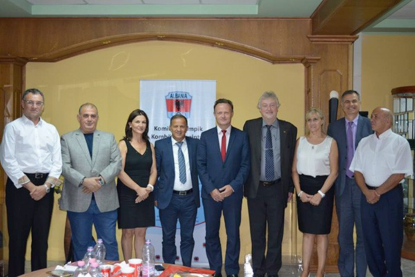 The President and secretary general of the International School Sport Federation recently paid a two-day visit to Tirana with a focus on creating the Albanian Federation of School Sports ©NOC of Albania