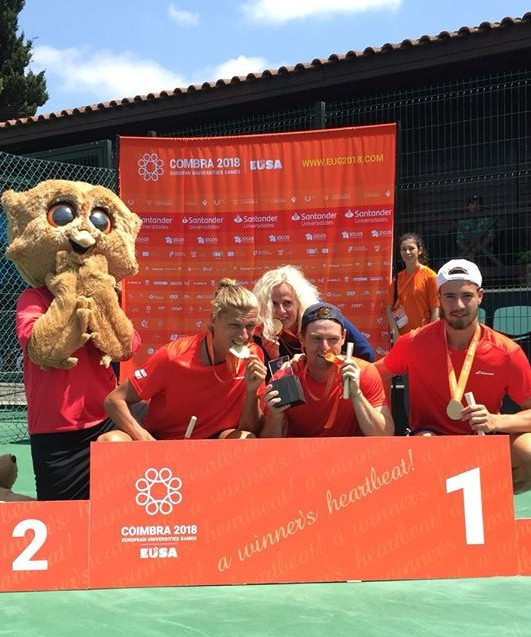 Innsbruck claim men's team tennis title at European Universities Games