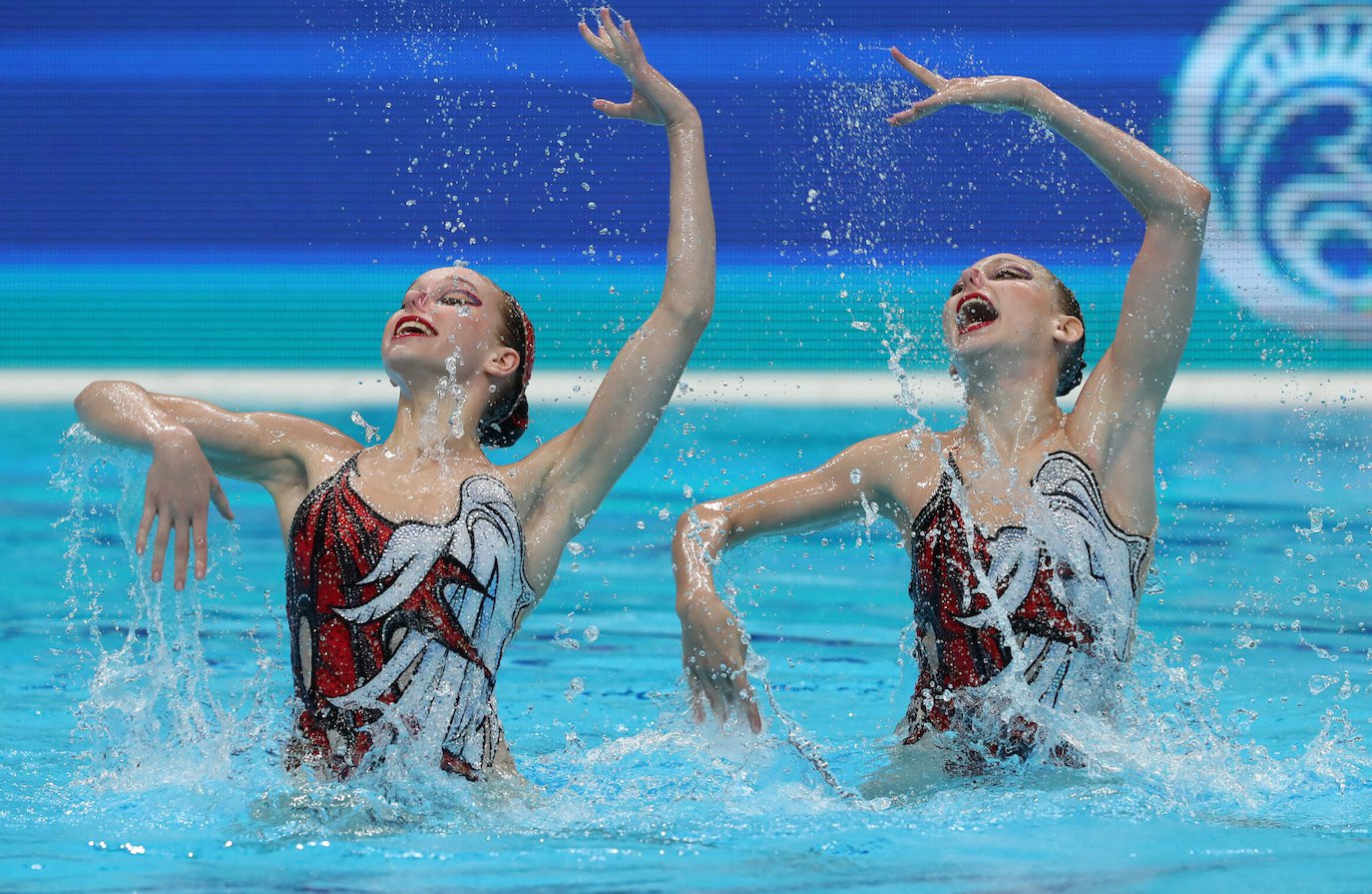 Russia won both duet competitions yesterday to remain on course to win all the available titles  ©FINA