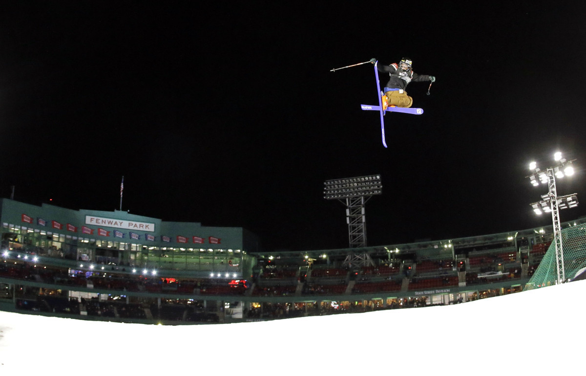 Freeski big air made its FIS World Cup debut at Fenway Park in Boston in the 2014-2015 season ©Getty Images