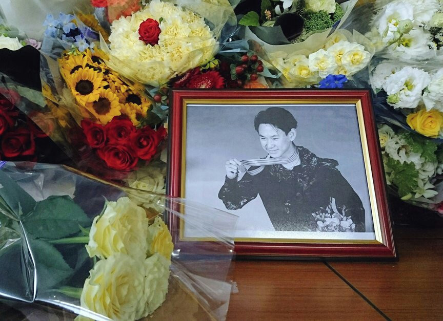 A funeral service has been held in Almaty for Denis Ten ©Twitter
