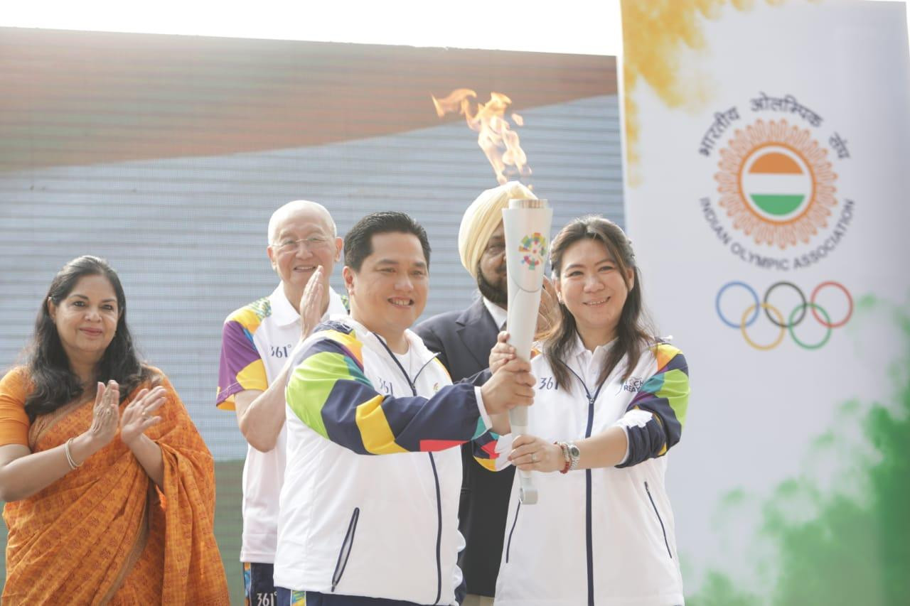 Flame for Jakarta Palembang 2018 Torch Relay lit in New Delhi