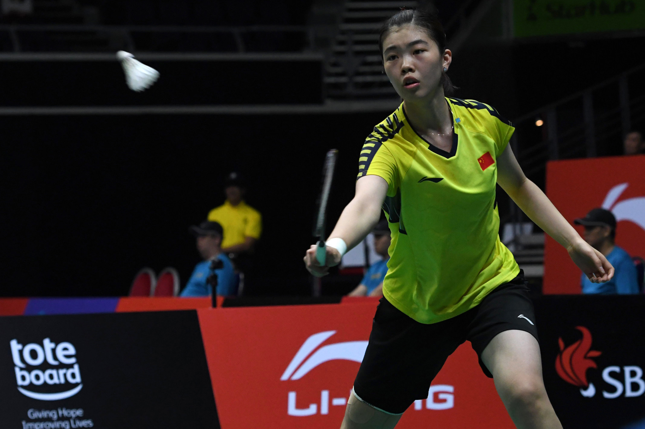 Gao beats highest seed to reach women's singles final at BWF Singapore Open
