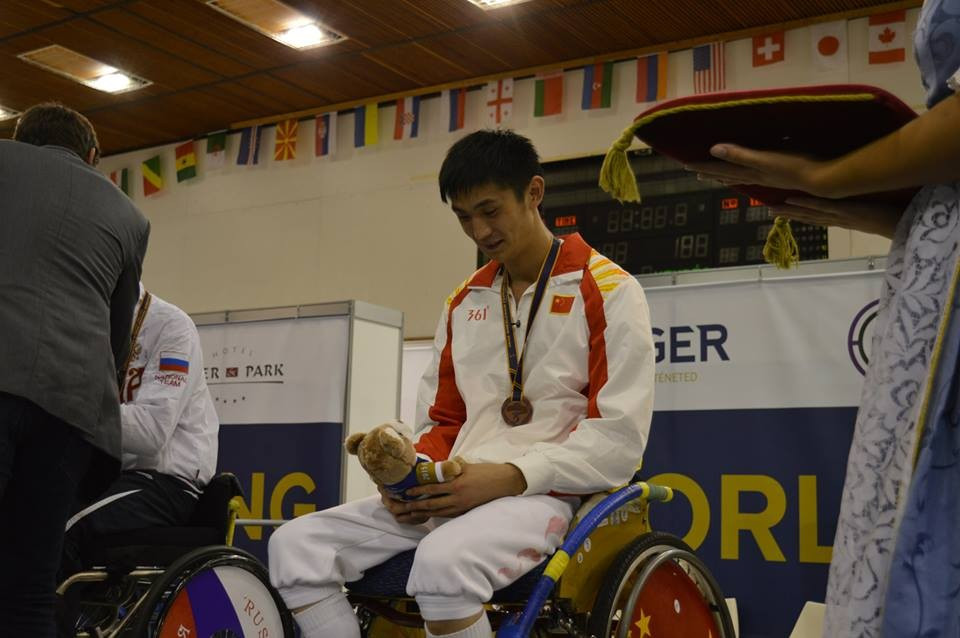 China's Gan Sun won the men's category A epee event