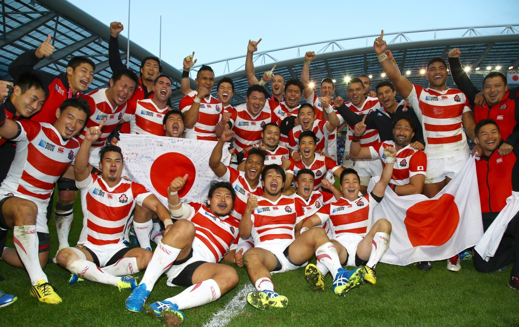 Japan pulled off one of the biggest shocks in rugby history ©Getty Images
