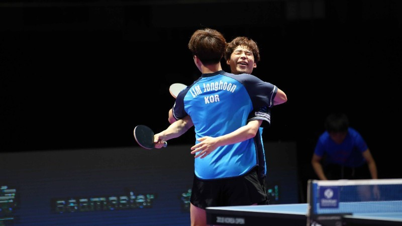 Historic hat-track for Jang Woojin at ITTF Shinhan Korea Open