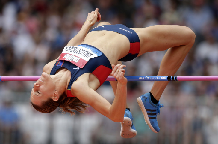 Italy's Elena Vallortigara added six centimetres to her personal best to clear 2.02m in the high jump, pushing Russia's double world champion Mariya Lasitskene to equal her 2018 world-leading 2.04m ©Getty Images