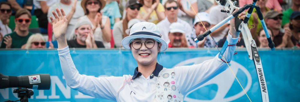 Lee seals first individual title with women's recurve triumph at Archery World Cup