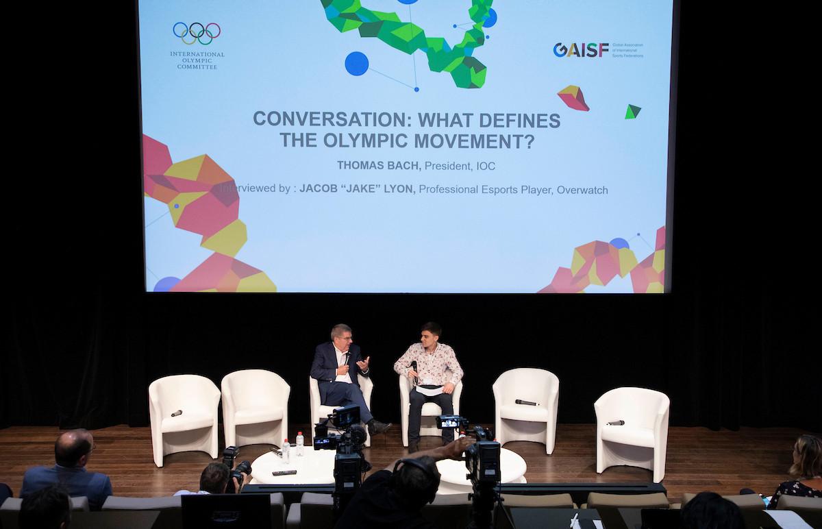 IOC President Thomas Bach was grilled by professional gamer Jake Lyon ©IOC