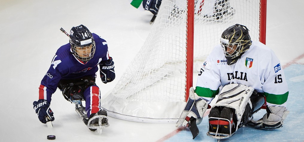 Jung Seung-hwan helped set up the winner in South Korea's bronze medal playoff match against Italy at this year's Winter Paralympic Games in Pyeongchang ©Getty Images