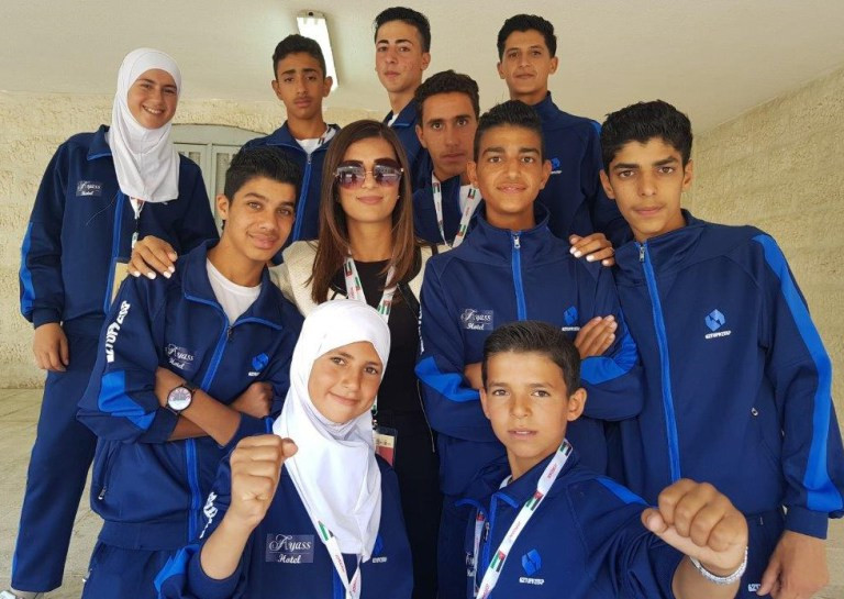 Members of the first refugees squad to compete at an international taekwondo tournament ©THF