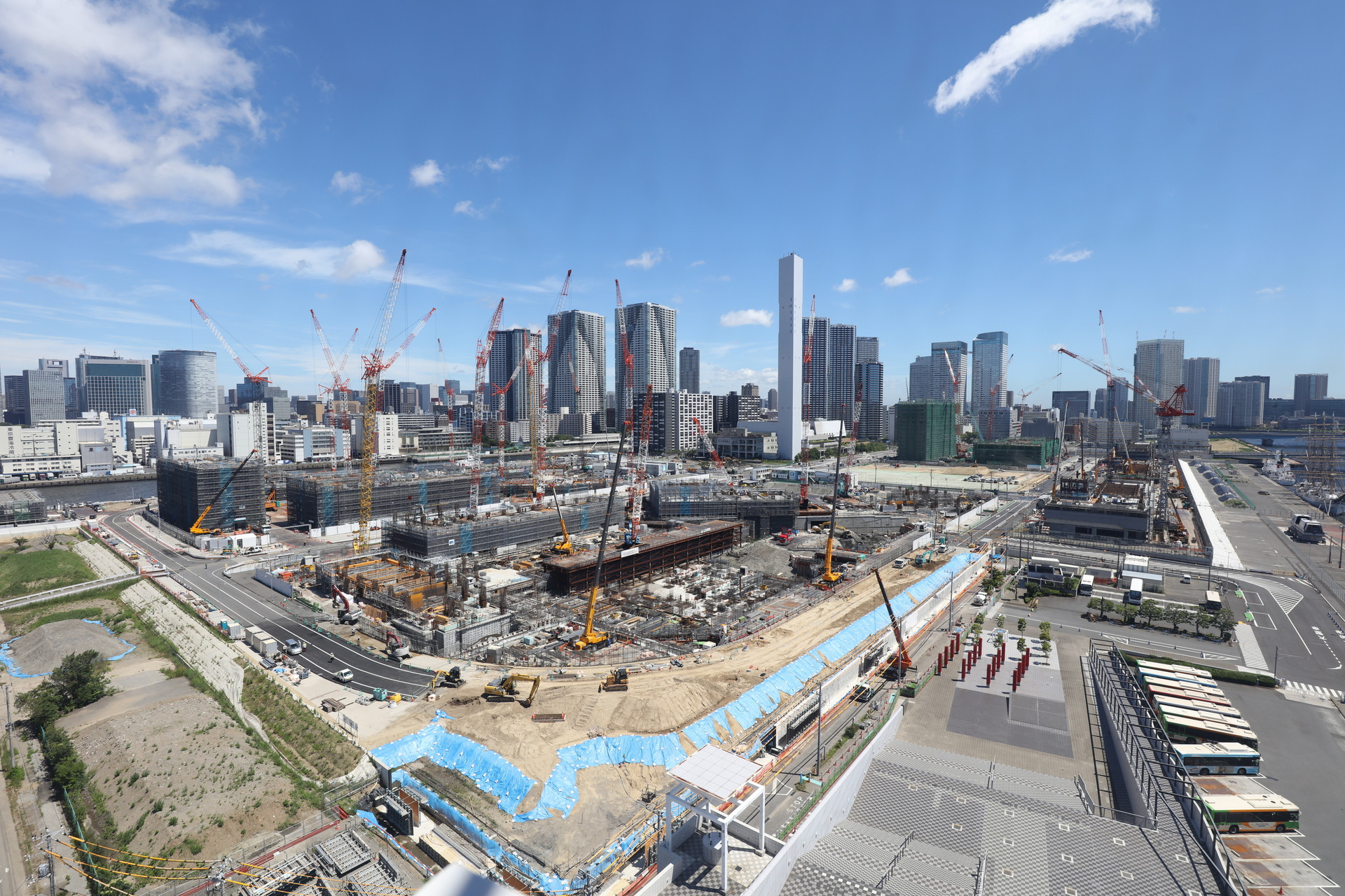The Athletes' Village is due to be finished by November next year ©Tokyo 2020