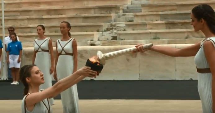 The flame for this year's Summer Youth Olympic Games in Buenos Aires has been lit in Athens ©Buenos Aires 2018/YouTube