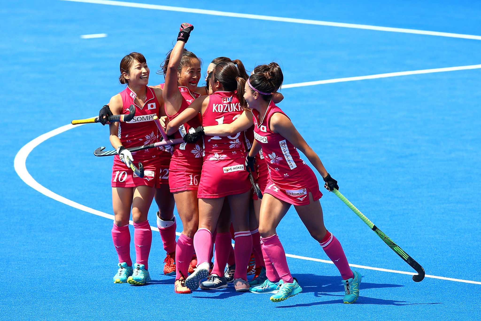Japan claimed a fine 2-1 victory over Commonwealth champions New Zealand to blow Pool D wide open at the Women's Hockey World Cup in London ©Getty Images