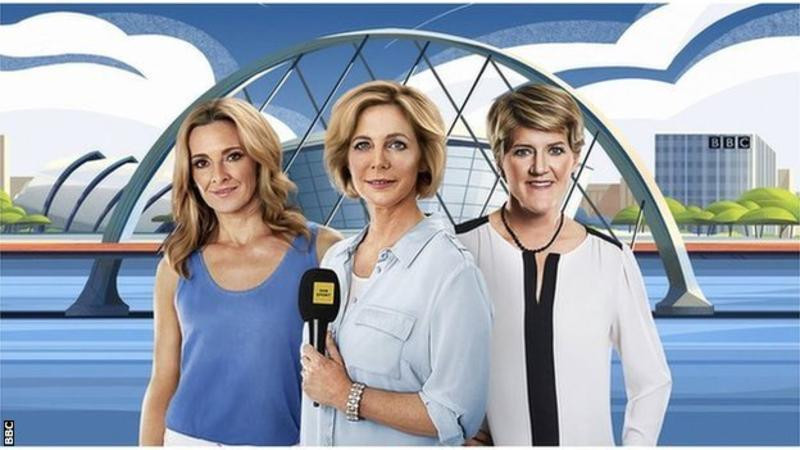 Gabby Logan, Hazel Irvine and Clare Balding will lead the BBC Television coverage of the 2018 European Championships in Glasgow and Berlin ©BBC
