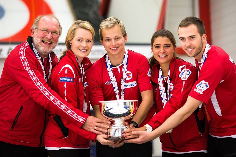 Norway beat rivals Sweden to secure gold at inaugural World Mixed Curling Championships