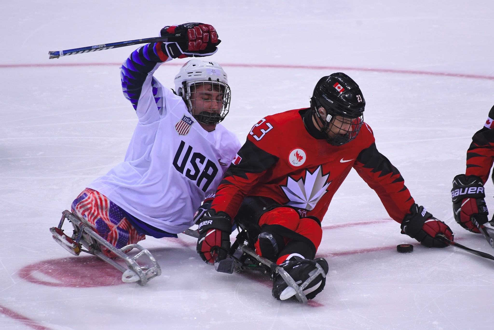 Brody Roybal, left, is in the squad having been named as the Paralympic tournament's most valuable player in Pyeongchang ©Getty Images