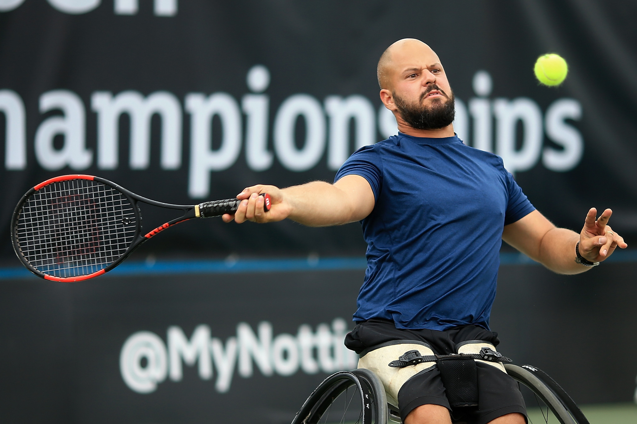 Wimbledon Wheelchair Tennis singles champion Stefan Olsson has cruised into the quarter-finals at the ITF Belgian Open ©Getty Images