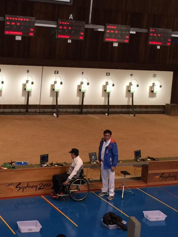 China's Chao Yang denied South Korea's Chul Park gold in the men's P1 10 metres air pistol SH1 event ©Twitter/IPC Shooting