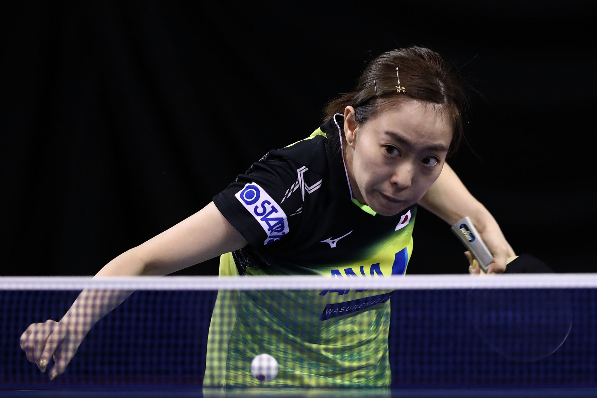 Kasumi Ishikawa of Japan, the women's top seed, safely negotiated round one ©Getty Images