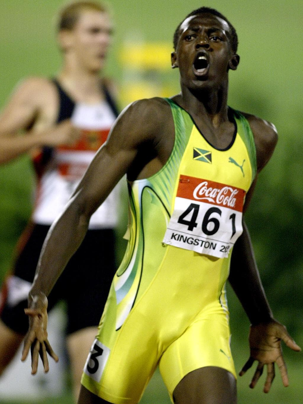 The international career of Usain Bolt was launched when he won the 200 metres at the 2002 IAAF World Junior Championships in front of a home crowd in Kingston ©Getty Images