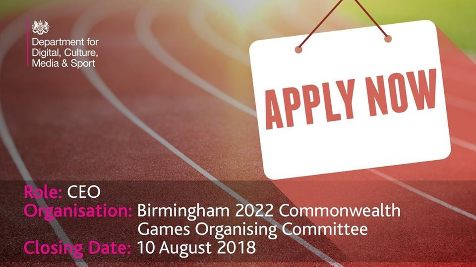 A search to find a chief executive for Birmingham 2022 has been launched ©DCMS