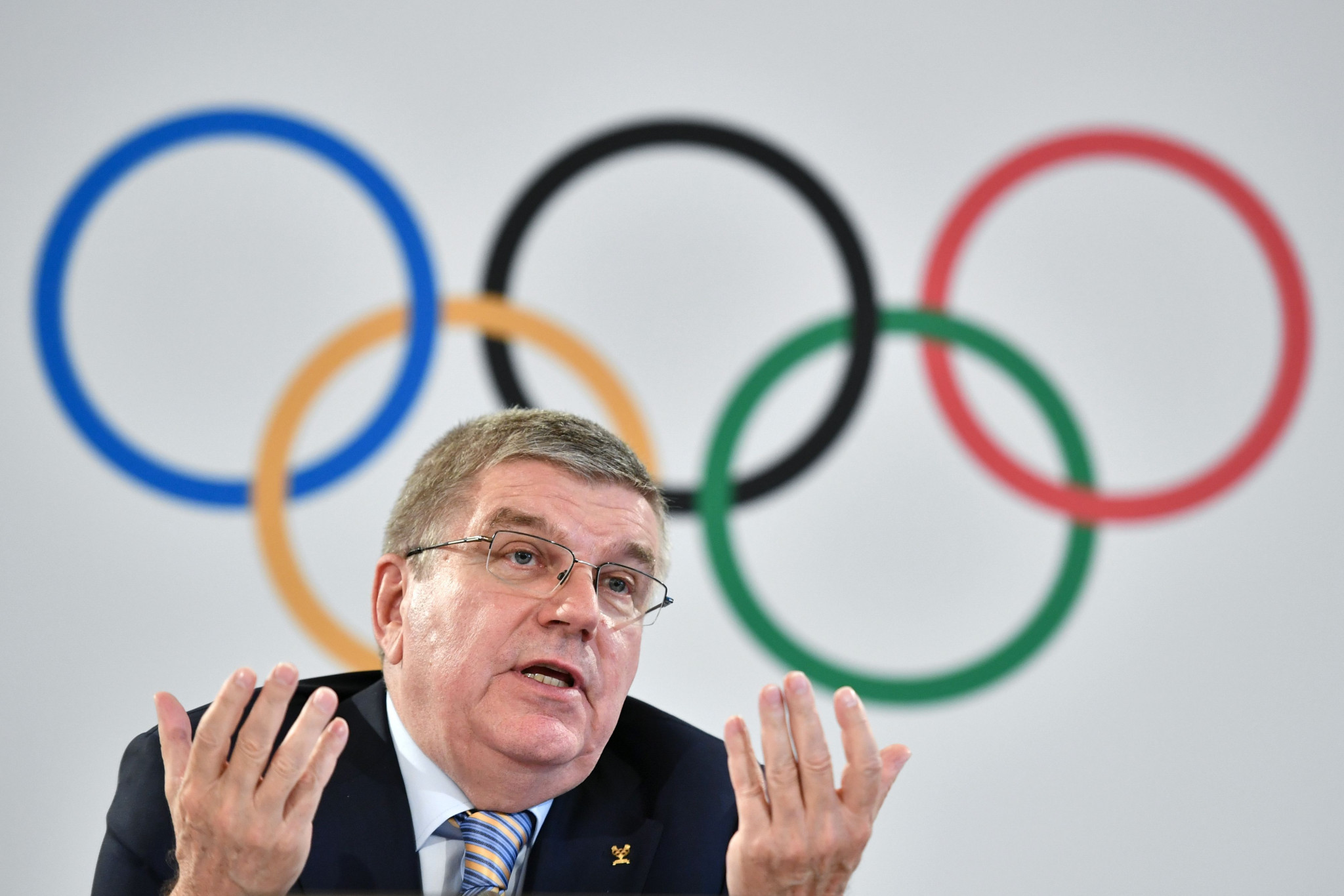 IOC President Thomas Bach said he was hopeful the UN would agree to their request ©Getty Images