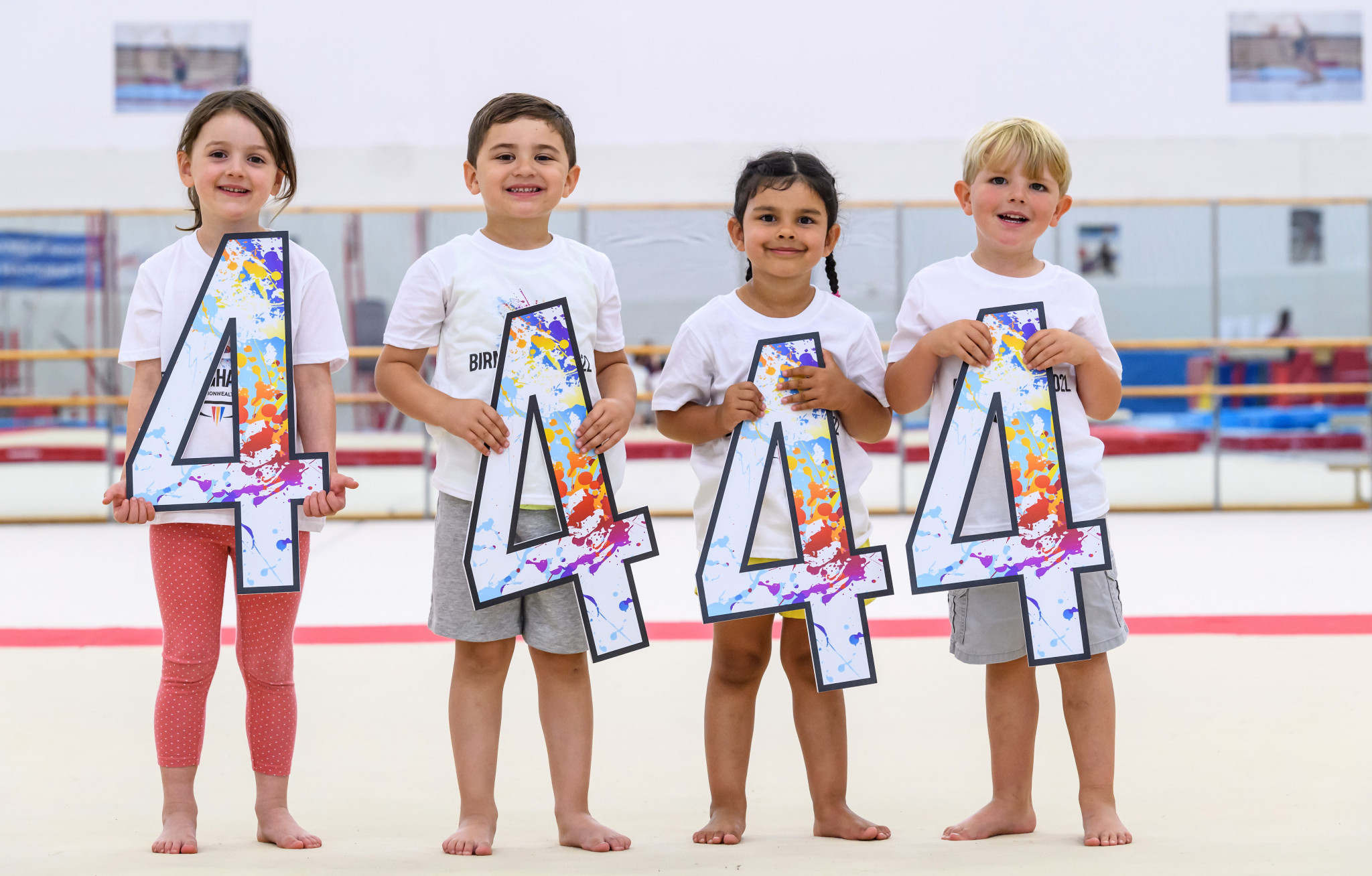 Four-year-olds from the local area helped celebrate the milestone ©Birmingham 2022