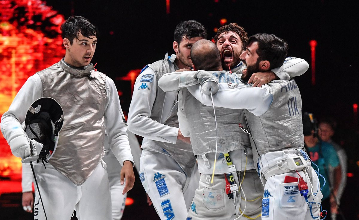 Italy's men have won the team foil competition for the second year running, at the FIE World Fencing Championships in Wuxi ©FIE