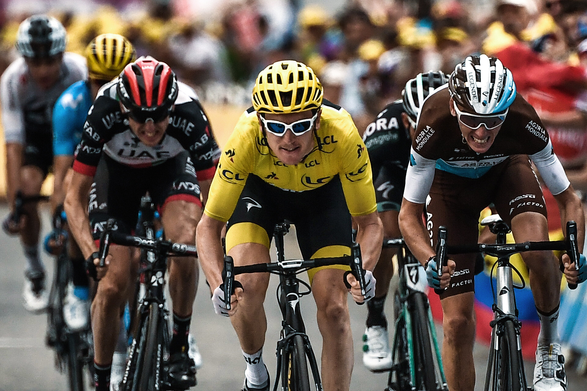 Geraint Thomas is in pole position to win cycling's most famous race ©Getty Images