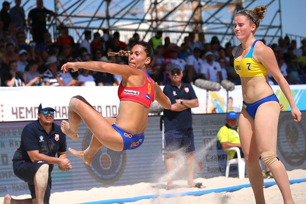 Defending champions Spain are through to the quarter-finals of the IHF Beach Handball World Championships in Kazan with a perfect record ©IHF