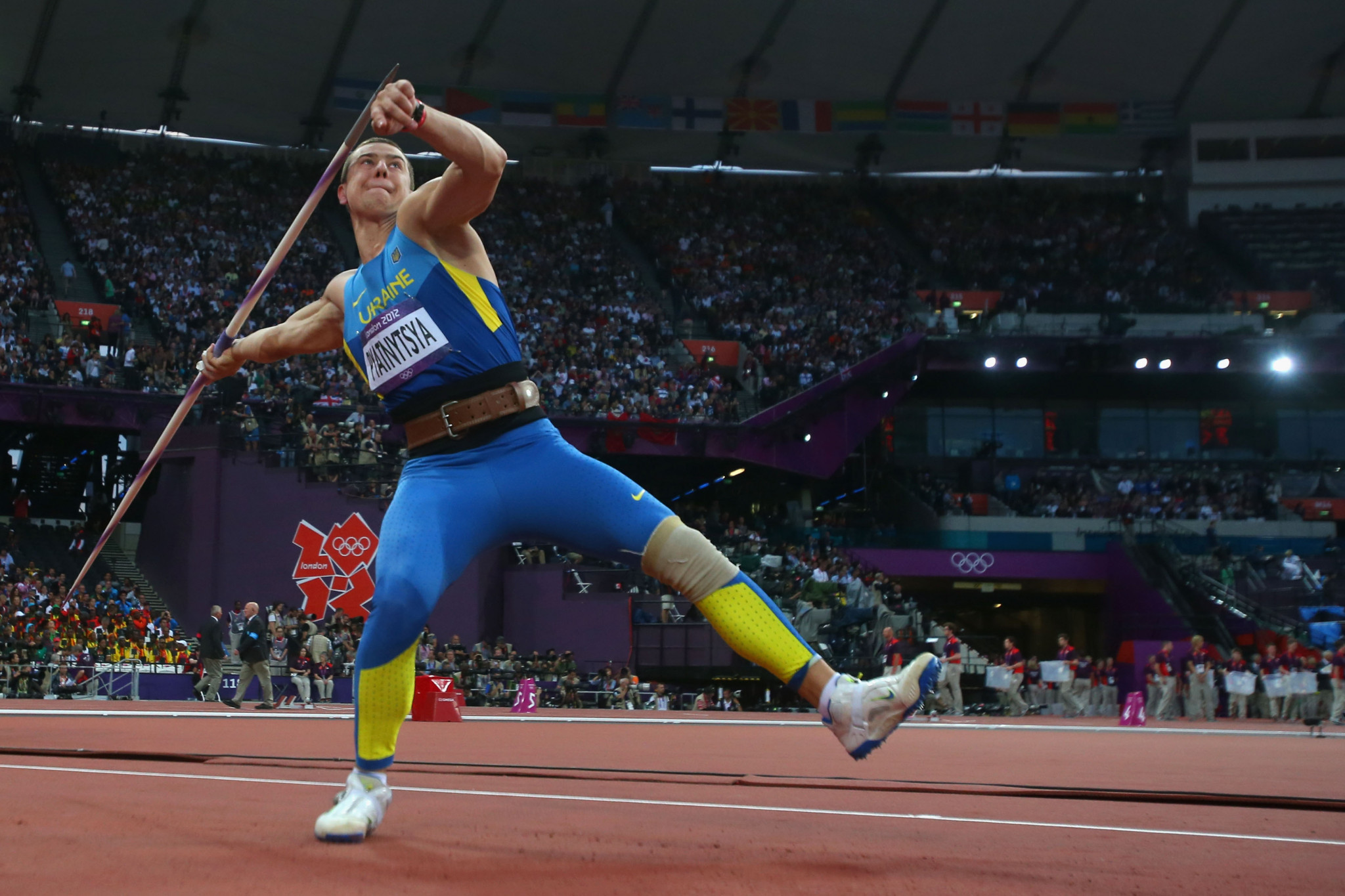 Oleksandr Pyatnytsya lost his Olympic javelin silver medal from London 2012 after being one of six Ukrainian athletes to fail re-tests leading to them having the second worst doping record in athletics behind only Russia ©Getty Images