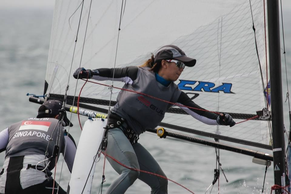 Liu and Lim seal Rio 2016 berth after dominating Nacra 17 event as ISAF World Cup in Qingdao draws to close