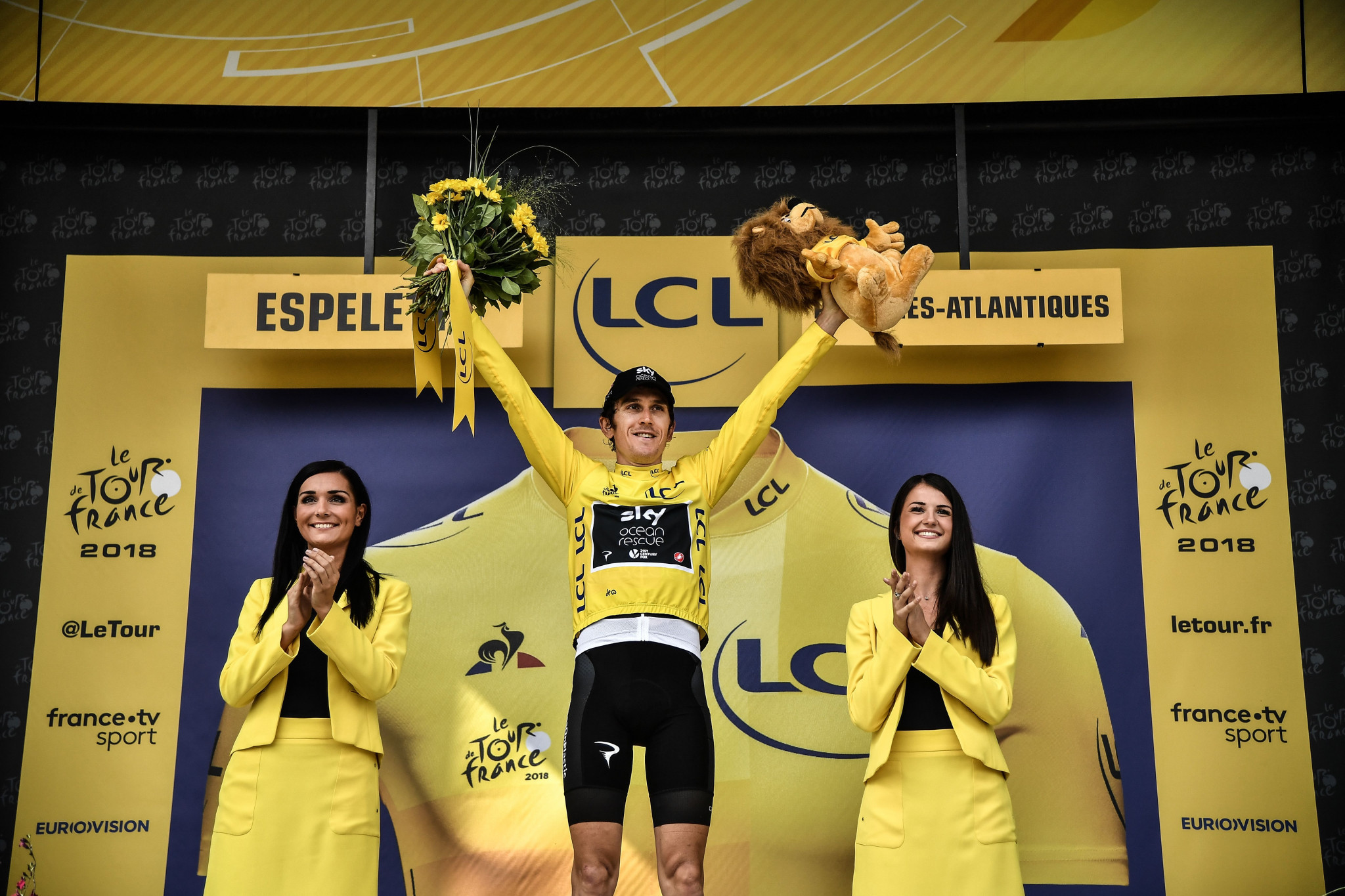 Geraint Thomas finished third in today's time trial and is set to help Team Sky claim their sixth Tour de France victory in seven years following Sir Bradley Wiggins in 2012 and Chris Froome in 2013, 2015, 2016 and 2017 ©Getty Images