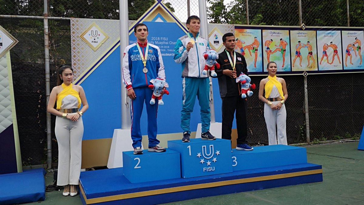 Double gold for Thailand at FISU World University Muaythai Championships