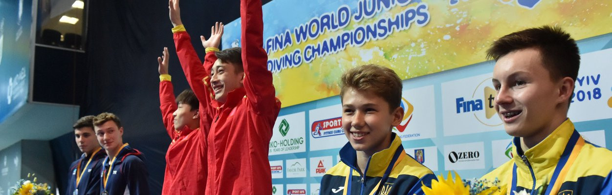 Hosts Ukraine and Sweden reach podium as Chinese gold rush continues at FINA World Junior Diving Championships