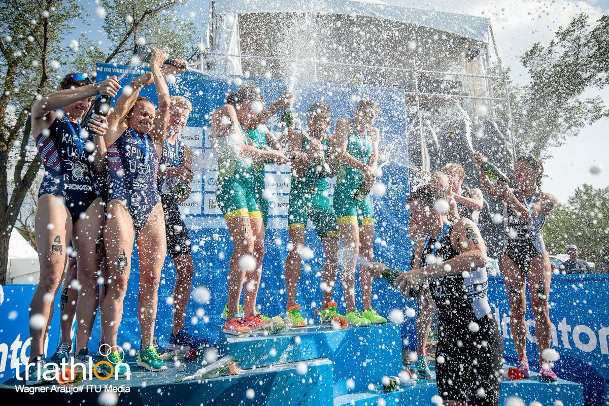 Australia won the final Triathlon World Series mixed relay race of the season in Edmonton in Canada to take the overall title in front of France ©World Triathlon