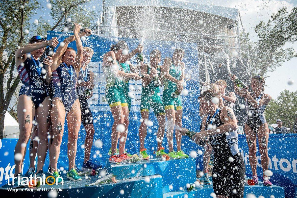 Australia win in Edmonton to take overall World Triathlon Series mixed relay title