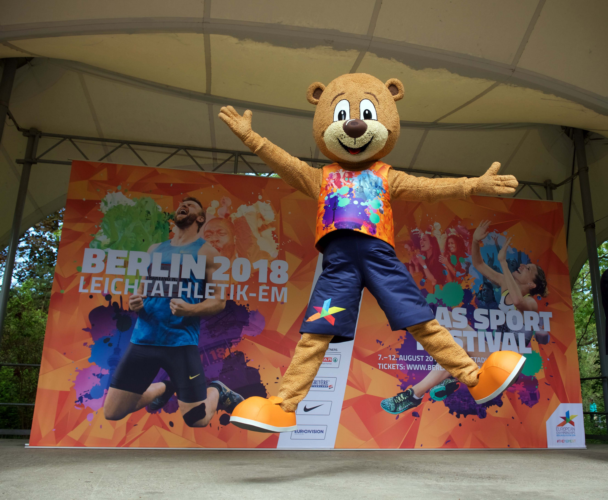 Berlino the Bear, the much-loved mascot for the International Association of Athletics Federations 2009 World Championships, is making a competitive comeback for next month's European Athletics Championships in the city ©European Championships