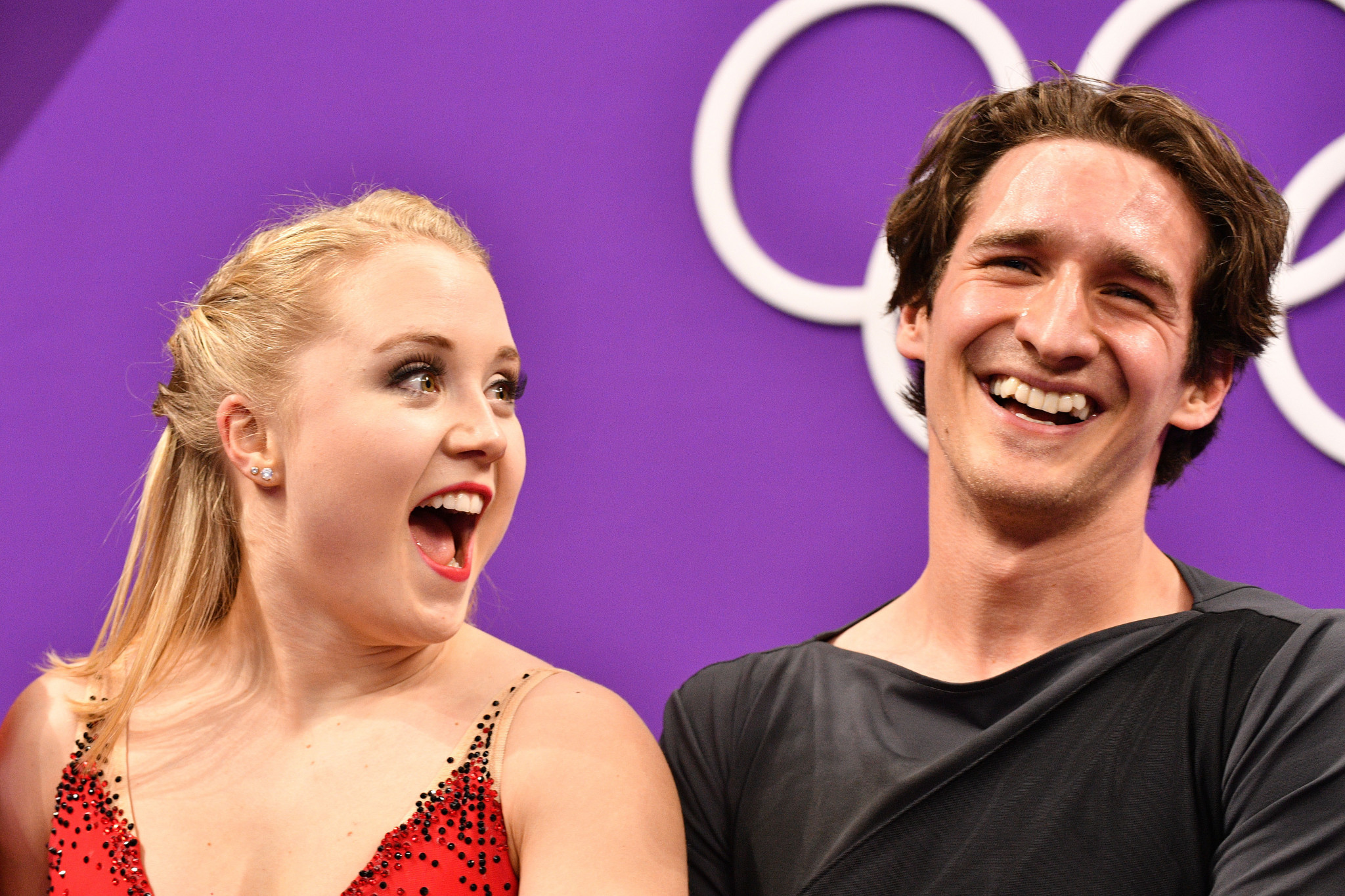 Canadian pairs team Julianne Séguin and Charlie Bilodeau have announced an end to their figure skating partnership ©Getty Images