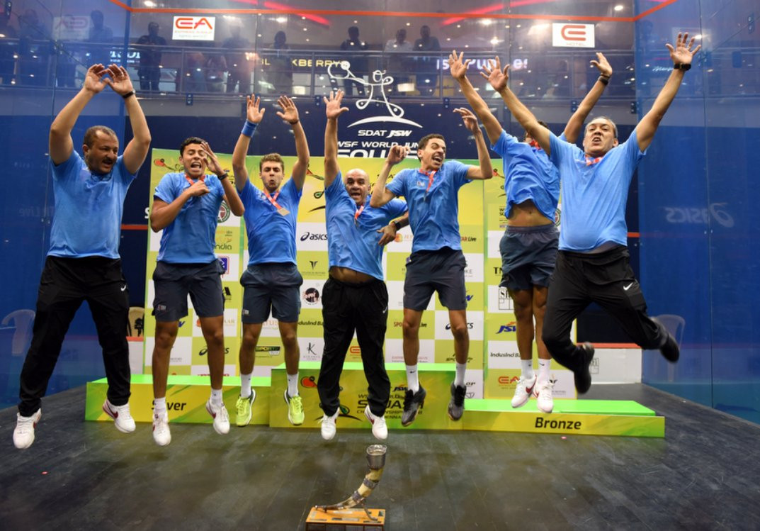 Egypt beat England to seal record equalling sixth World Junior Squash Championships team title