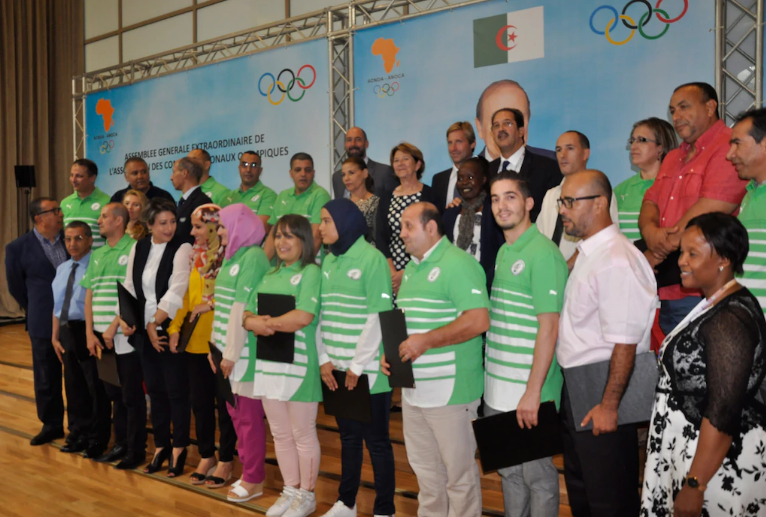 Algerian Olympic Committee hand out certificates after inaugural sports management course