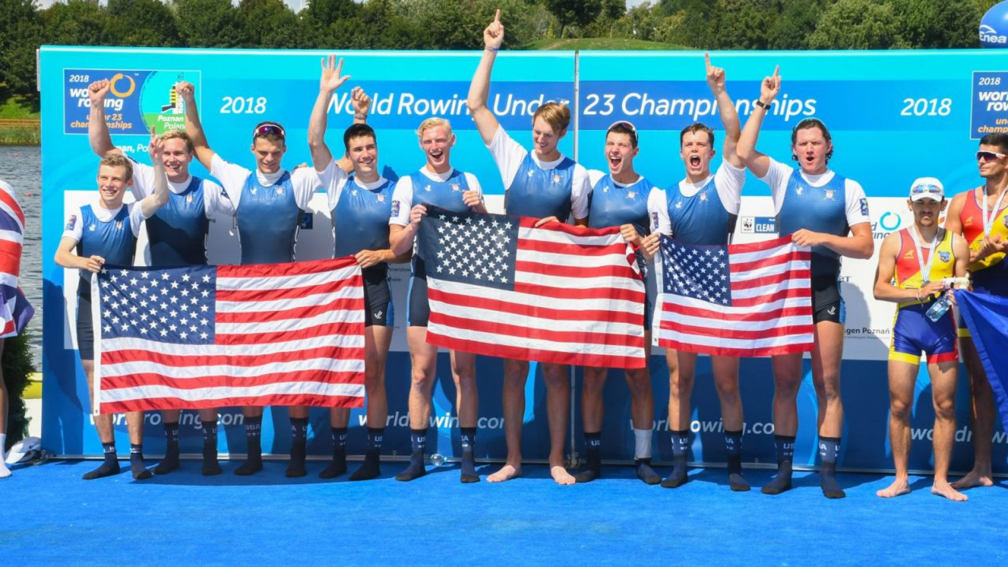 Men's eight leave United States on golden high at World Rowing Under 23 Championships