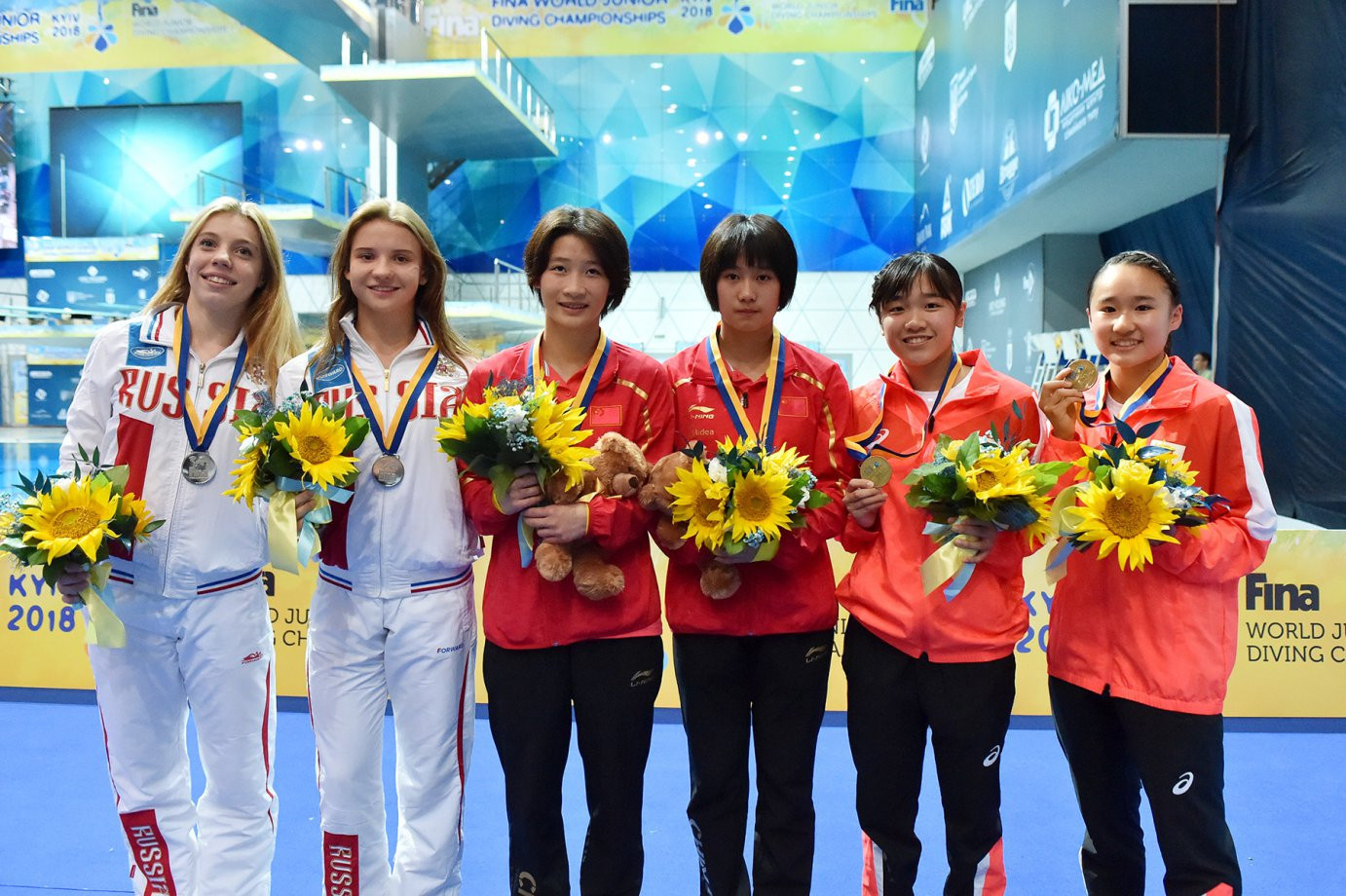 China earn two final golds at World Junior Diving Championships in Kiev