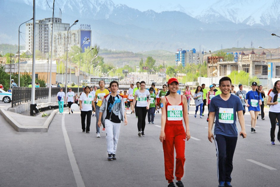 The Almaty Marathon on Sunday was another event designed to raise the profile of the Olympic bid city ©Almaty 2022